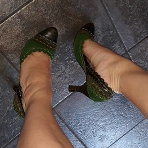 Witches Brew Shoes Gorgeous High Heels Dark Magic